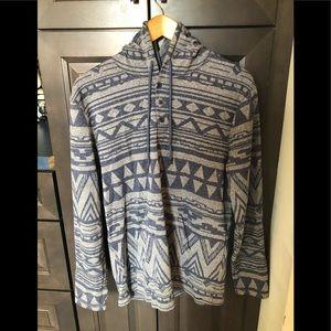 PAcSun Light Blue/Grey Sweatshirt // Large